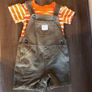 Boys overall outfit